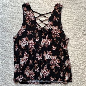 Floral strappy tank